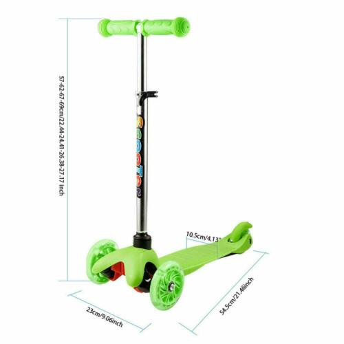 3 in 1 3-Wheels Kick Scooter Skate Ride Kids Child Toddler Girl Toy Play Outdoor