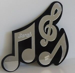 Music-Notes-Wall-Plaque-Personalized-Name-Wall-Decor-Hanging-Mirror-Free-Engrave