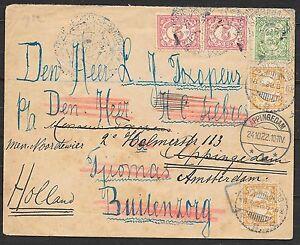 Netherlands Indies cover 1922 interesting Wandercover Boeroe etc