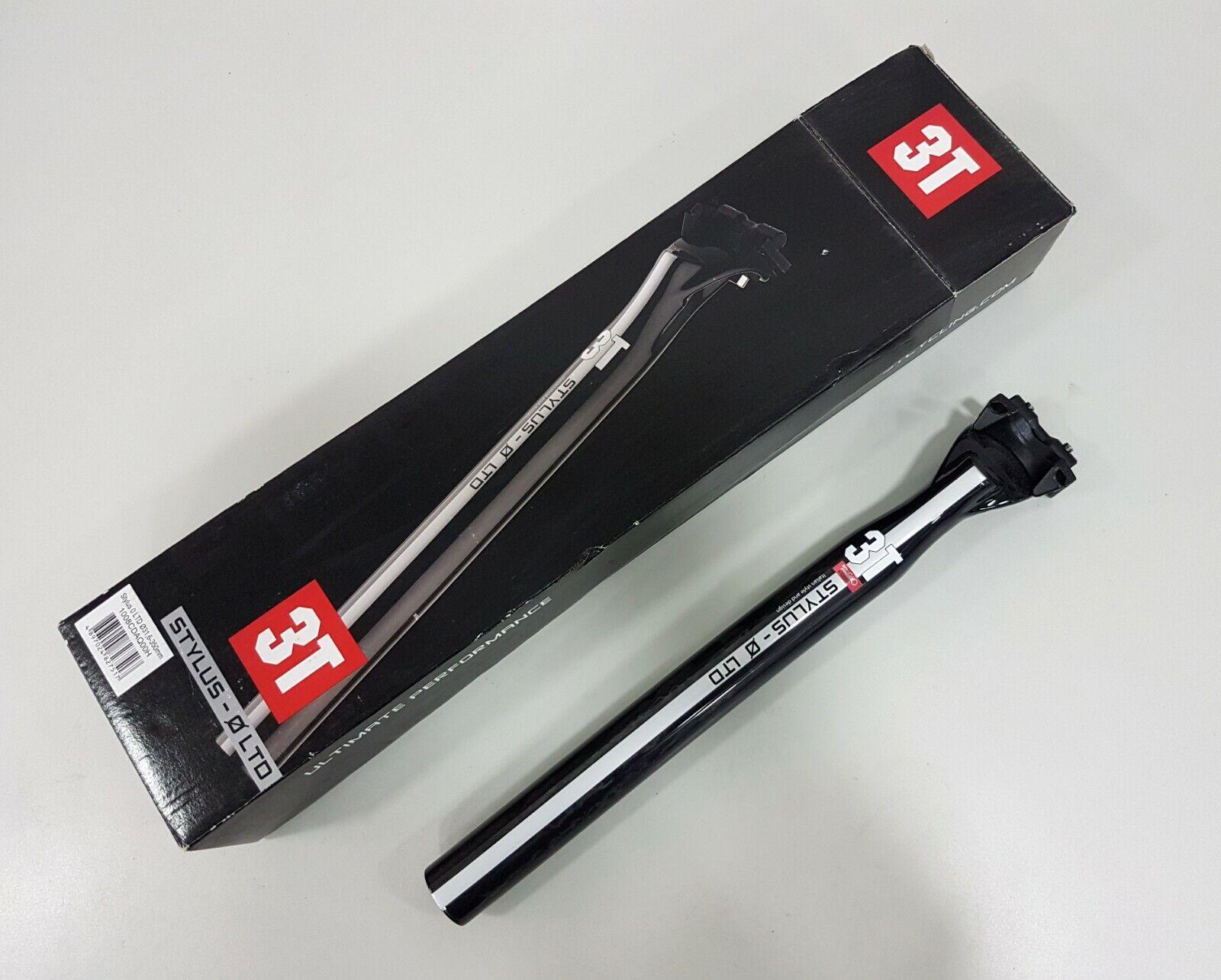 3T Stylus - 0 LTD Carbono Tija Plata Negro ∅ 31.6 350mm