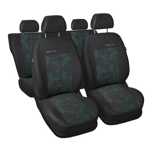 Universal Sitzbezüge Grün für Volkswagen LT BUS 1+2 Schonbezüge Autositz Vorne