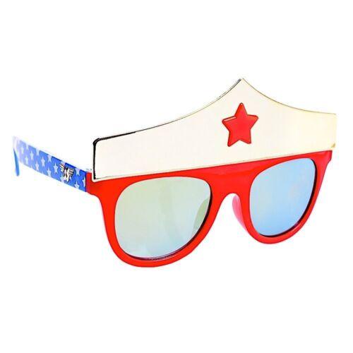 WONDER WOMAN DC COMICS Girls 100/%UV Shatter Resistant Costume Sunglasses NWT $13