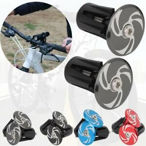 2pcs cycle road bike handlebar end lock-on plugs bar grips caps covers BB
