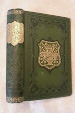 Sir Walter Scott Poetical Works Antique Classic 1881 Green Victorian Decorative