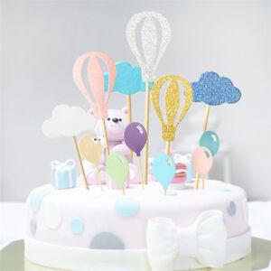 Tremendous Creative Hot Air Balloon Birthday Cake Decoration Topper Party Funny Birthday Cards Online Elaedamsfinfo