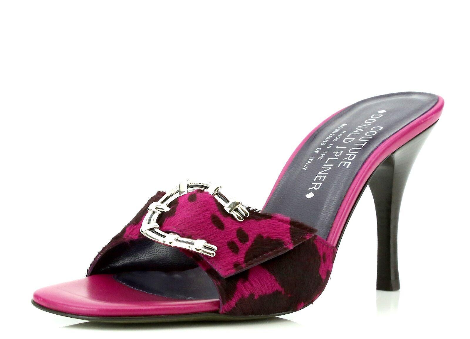 Donald J Pliner Netie Fuchsia Pink Pelle Slipper Heels 7274 Size 7.5 M NEW!