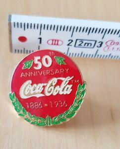 Coca Cola 50th anniversary 1886-1936, label pin