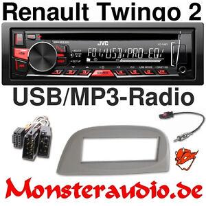 jvc autoradio radio renault twingo 2 cd mp3 usb radio. Black Bedroom Furniture Sets. Home Design Ideas