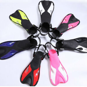 Swimming Snorkeling Training Short Fins Swim Diving Flippers Kid Youth Adult New