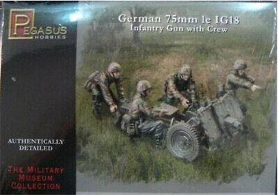 Pegasus 1//72 German 75mm le IG18 Infantry Gun w crew PG7510