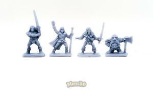 Minis3D-Rep-Heroquest-Original-Heroes-Elf-Dwarf-Wizard-Barbarian