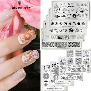 BORN-PRETTY-Nail-Art-Stamping-Plates-Image-Stamp-Template-Nails-Decoration-DIY