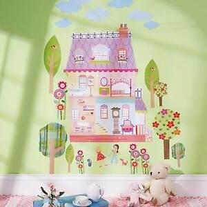 Wandsticker Kinderzimmer Mädchen Wandtattoo Baum Haus Spielhaus ...