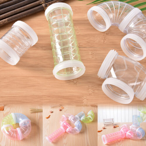 DIY Hamster Mouse Cage Replacement Tube Pack Curves Straights Connectors`FunToy