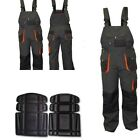 NEW Bib and Brace Overalls Mens Work Trousers Knee Pad Dungarees Multi Pocket UK