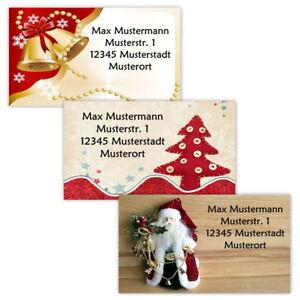 40-Adressetiketten-Adressaufkleber-oder-10-Visitenkarten-Motiv-034-Weihnachten-034