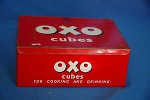 Vintage Oxo Tin Food Advertising holds 24 x 6 Cubes