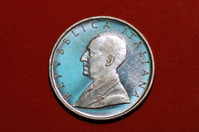 ITALY 500 LIRE 1974 UNC GUGLIELMO MARCONI SILVER Commemorative coin KM#103