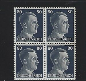 MNH-Adolph-Hitler-stamp-block-1941-PF80-Original-Third-Reich-era-Germany