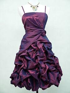 Cherlone-Satin-Purple-Boho-Prom-Evening-Party-Cocktail-Ball-Dress-UK-size-20-22