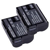 2 EN-EL15 ENEL15 Camera Battery For Nikon D7000 D800 D800E D600 1 V1