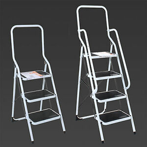 3 4 Step Ladder Steel Non Slip Tread Stepladder Safety