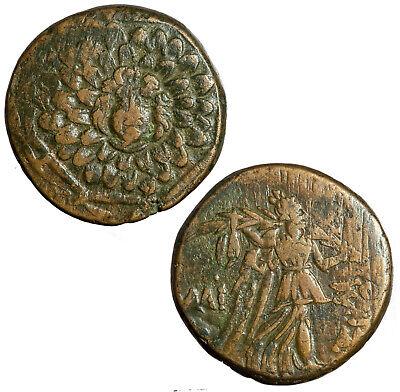 120-63 BC Pontus Mithradates VI  AE Bronze Medusa Type