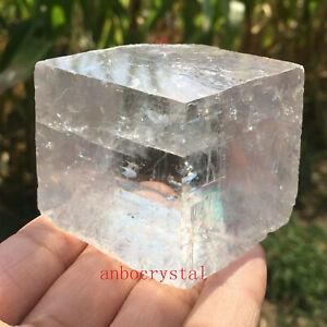 Top-Natural-iceland-spar-crystal-mineral-Teaching-specimen-1PC-50G