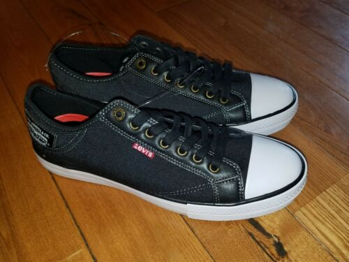 Brand New Mens LEVIS Stan Buck C Black Denim Sneakers Size 9.5