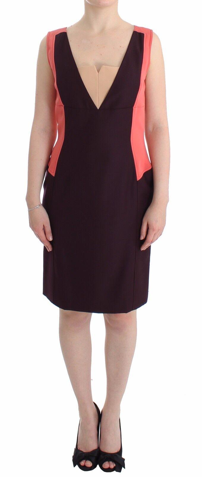 NEW  COTE Dress lila Orange Pencil Wiggle Shift Sheath s. IT44   US10   L