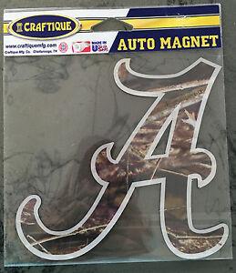 University of Alabama Medium Camo Script A Auto Magnet