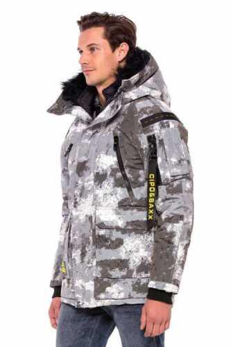 Cipo /& Baxx Herren Winter Parka Jacke Mantel Kapuzen Wasserabweisend Robust