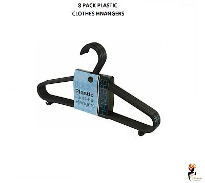 Hangerworld™ 35.5cm White Black Plastic Trouser Hangers Garment Clothes Coat Bar