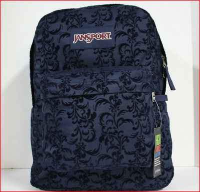 Jansport HIGH STAKES Backpack -1550 cu 25 L LARGE Bag BLUE Flocked Swirl 🌟New🌟