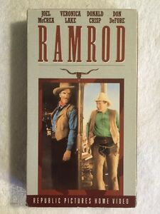 Ramrod-Prev-Viewed-VHS-Veronica-Lake-Donald-Crisp-RARE-Western-HTF