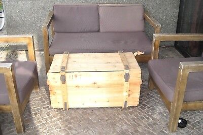 Motivata Scatola Vino Cassa Di Legno Tavolo Cassa Shabby-chick-vintage Tavolino Mobili Panca Nva-mostra Il Titolo Originale Ampie Varietà