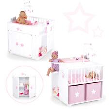 Großes Puppenpflegecenter 5in1 Sternchen aus Holz Bett Wickeltisch Baden Schrank
