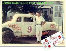 CD_2828 #9 Darrell Taylor 1934 Ford coupe ca 1968    1:64 scale decals