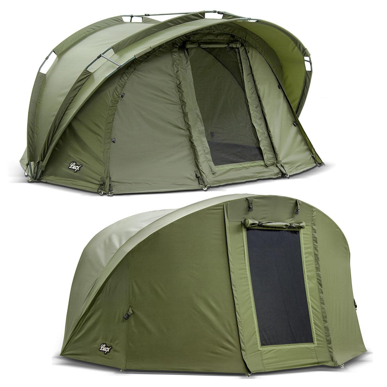 Lucx ® Bivvy + Winter Skin 1 MAN Carp Tent  1 Man Fishing Tent + Throw  Bengal   promotional items