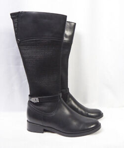 release date: how to orders drop shipping Details about BLONDO Enya Black Leather Knee High Tall Waterproof Riding  Moto Boots Women 11 M