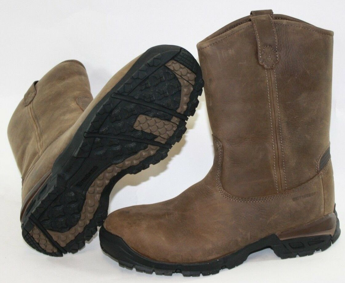 NEW Mens DUNHAM 819 BR Contractor Pull On Marroneee Soft Leather stivali scarpe