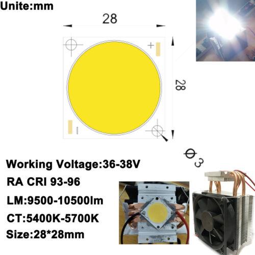 High CRI 90 DC12V Radiador Ventilador del disipador de calor 100 W 10000 LM COB LED Luz Blanco