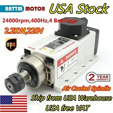 22kw Er20 Air Cooled Spindle Motor 24000rpm 4bearing 220v Cnc Router Engraving