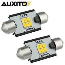 Auxito 6418 6411 36mm Led License Plate Light Bulbs For Honda Toyota Ultra White