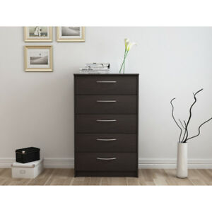 Details about Chest Of Drawers Tall 5 Drawer Storage Bedroom Clothes  Dresser Contemporary Kids