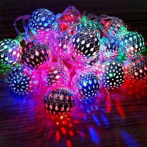 20 Batterie Del Oprated Silver Balls Fairy String Lights Mariage Décoration-afficher Le Titre D'origine Dernier Style