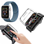 CINTURINO-COVER-VETRO-TEMPERATO-9H-per-Apple-Watch-5-4-3-2-44-42-40-38-mm miniatura 16