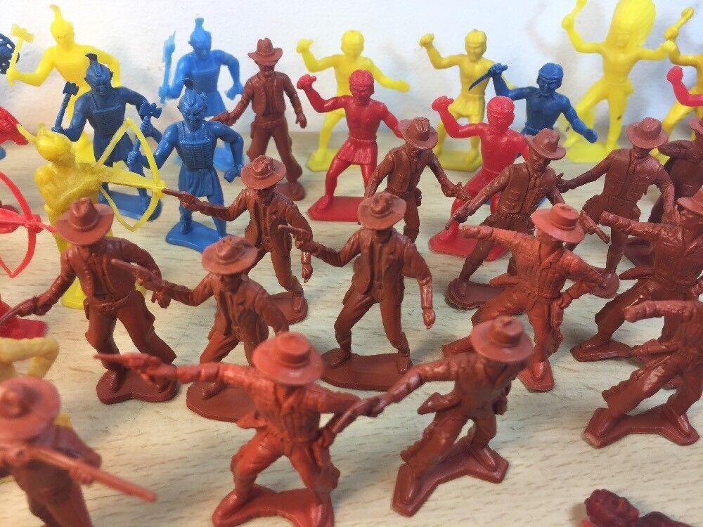 MPC 45mm Cowboy Indians Plastic Playset Figures 80 Pieces Pieces Pieces Total  Many Poses 43777c