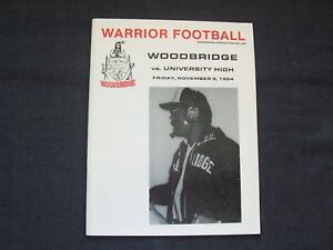 1984-high-school-football-program-University-at-Woodbridge-Warriors-Irvine