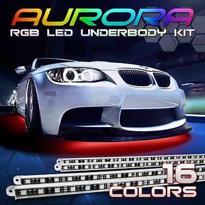 7-Color-LED-Car-Under-Glow-Underbody-Neon-Light-Strip-Kit-M-2x-48-034-amp-2x-36-034